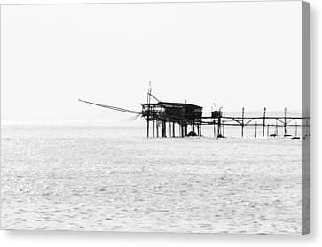 Seascape Of Italy - Trabocchi Coast  Canvas Print by Andrea Mazzocchetti