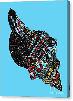 Seashell Canvas Print by Eleni Mac Synodinos