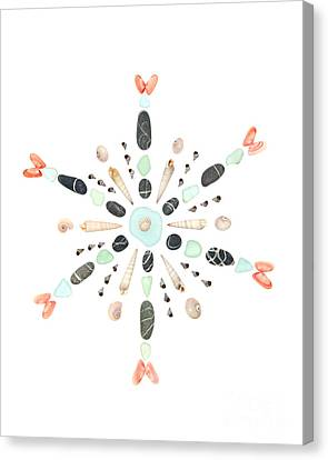 Seashell Snowflake 4 Canvas Print by Jennifer Booher