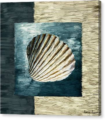 Seashell Souvenir Canvas Print by Lourry Legarde