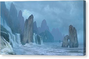 Seashore 2 Canvas Print by Valeriy Mavlo