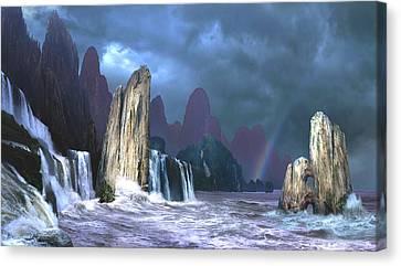 Seashore 3 Canvas Print by Valeriy Mavlo