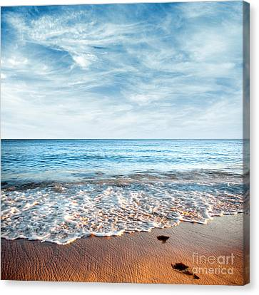 Copyspace Canvas Print - Seashore by Carlos Caetano