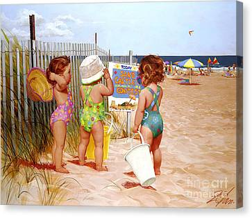 Seaside Adventures Canvas Print by Donald Zolan