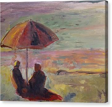 Seaside Conversation Canvas Print
