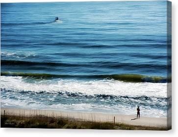 Seaside Fisherman Canvas Print by Glenn Gemmell