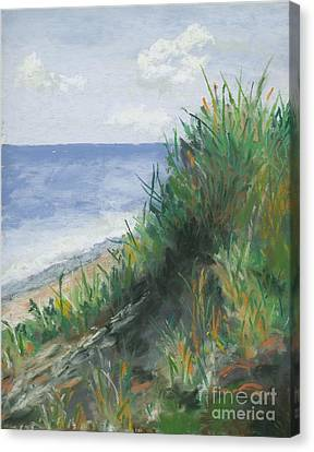 Seaside Canvas Print by Ginny Neece