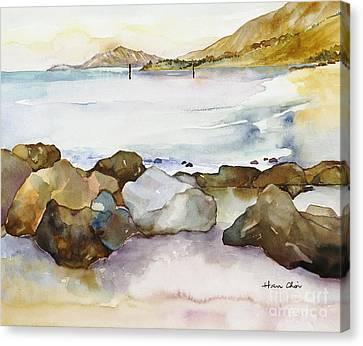 Diamond Head Canvas Print - Seaside by Han Choi - Printscapes