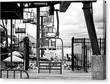 Seaside Heights Chair Lift Infrared Canvas Print by John Rizzuto