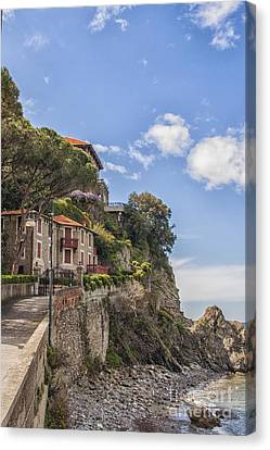 Seaside Houses In Italy Canvas Print by Patricia Hofmeester
