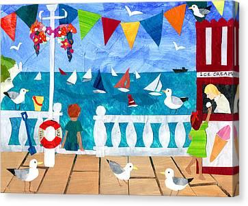 Seaside Canvas Print by Judy Adamson