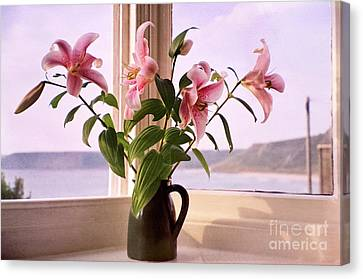 Seaside Lilies Canvas Print