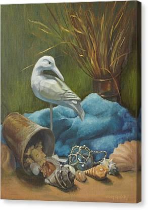 Seaside Memories Canvas Print by Vicky Gooch