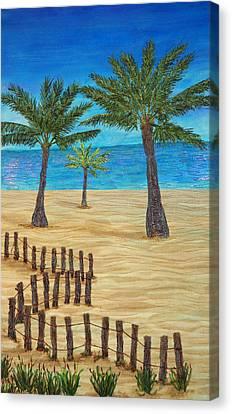 Seaside Oasis Canvas Print by Ana Sumner