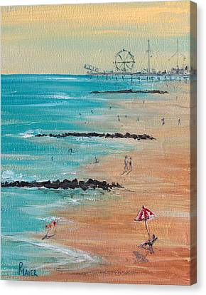 Seaside Canvas Print by Pete Maier