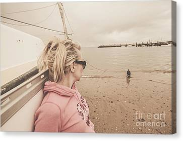 Seaside Stopover Canvas Print by Jorgo Photography - Wall Art Gallery