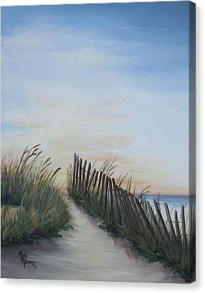 Seaside Sunrise Canvas Print by Mary Rogers