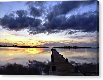 Seaside Sunset Canvas Print by Bob Cuthbert
