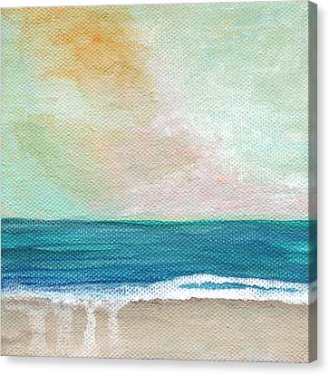 Seaside Sunset- Expressionist Landscape Canvas Print by Linda Woods