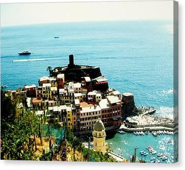 Seaside Village In Europe Canvas Print