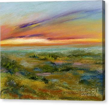 Seaside Vista Canvas Print by Addie Hocynec