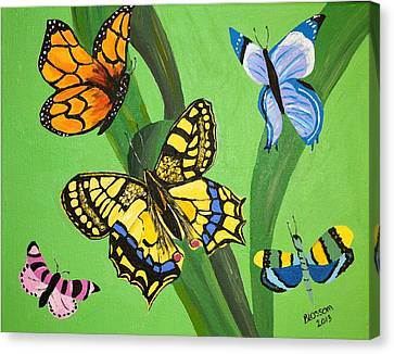 Season Of Butterflies Canvas Print