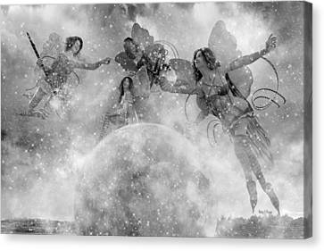 Seasons Bw Canvas Print by Betsy Knapp