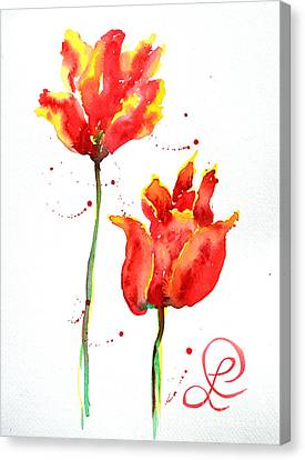Season's First Tulips Canvas Print