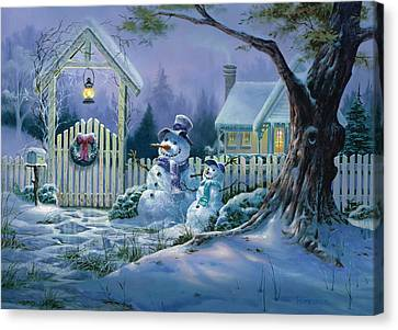Season's Greeters Canvas Print