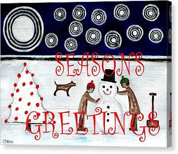 Seasons Greetings 14 Canvas Print by Patrick J Murphy