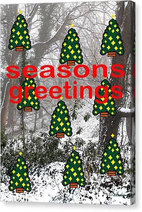 Seasons Greetings 8 Canvas Print by Patrick J Murphy