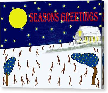 Seasons Greetings 80 Canvas Print by Patrick J Murphy