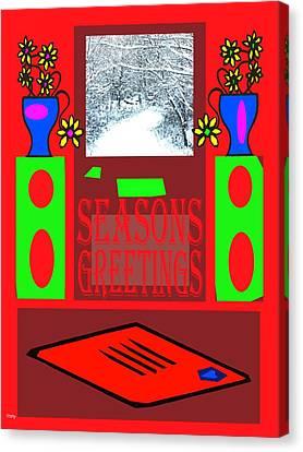 Seasons Greetings 97 Canvas Print by Patrick J Murphy