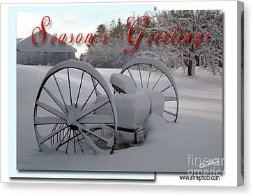 Canvas Print featuring the photograph Seasons Greetings by Alana Ranney