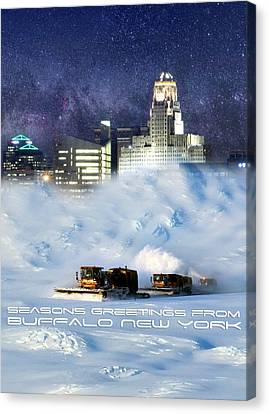 City-scapes Canvas Print - Seasons Greetings From Buffalo by Peter Chilelli