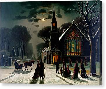 Seasons Greetings, Happy Holidays, 1878 Canvas Print