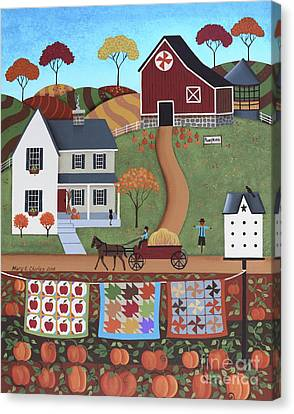 Seasons Of Rural Life - Fall Canvas Print