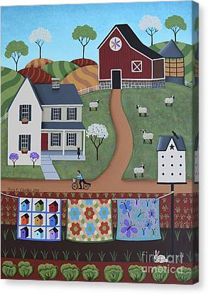 Seasons Of Rural Life - Spring Canvas Print