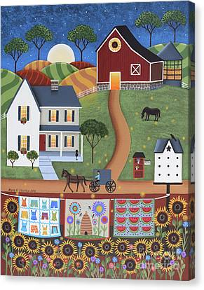 Seasons Of Rural Life - Summer Canvas Print by Mary Charles