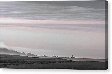 Seastacks In Fog Canvas Print