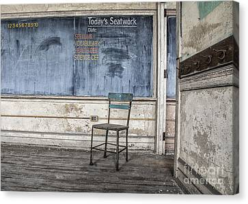 Canvas Print featuring the mixed media Seat Work by Terry Rowe