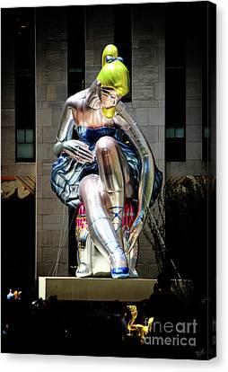 Seated Ballerina Rockefeller Plaza 5 Canvas Print