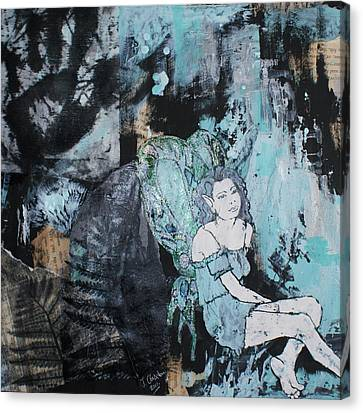 Seated Fairy With Hand 2 Canvas Print by Joanne Claxton