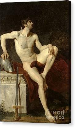 Seated Gladiator Canvas Print by Jean Germain Drouais