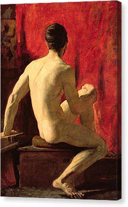 Seated Male Model Canvas Print
