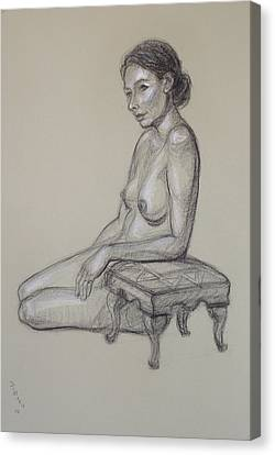 Seated Nude 3 Canvas Print by Donelli  DiMaria