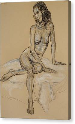 Seated Nude 4 Canvas Print by Donelli  DiMaria