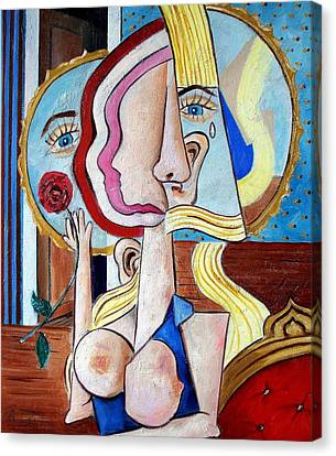 Seated Woman Canvas Print