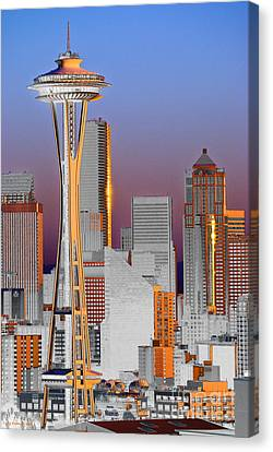Seattle Architecture Canvas Print by Larry Keahey