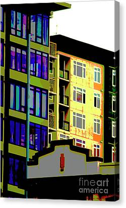 Canvas Print featuring the photograph Seattle Architecture by Yulia Kazansky